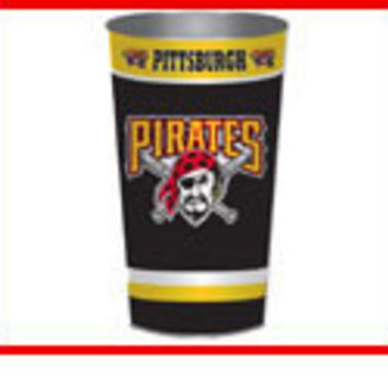 Pirates Metal Trash Can