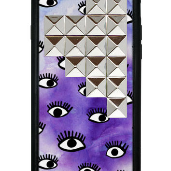Eye On Purp Silver Studded Pyramid iPhone 6/6s Case