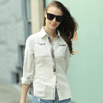 Veri Gude Button Plaid For Women Hjc-8215