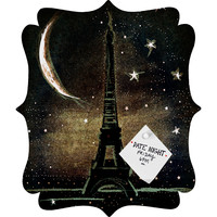 Deniz Ercelebi Paris Midnight Quatrefoil Magnet Board