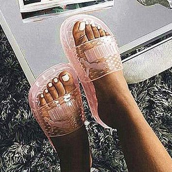 shosouvenir ¡êo Puma Fenty Rihanna Slides Crystal Shoes Female Slippers