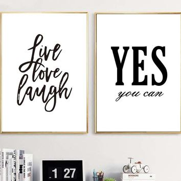 Motivational Quotes Posters and Prints Modern Canvas Painting - Office Decor
