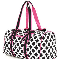 Darling Quilted circle print Large Duffle Bag with Monogramming!!