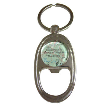 University of Virginia Map Bottle Opener Key Chain