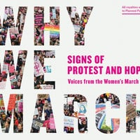 "Why We March: Signs of Protest and Hope – Voices from the Women's March - Plus Free ""Read Feminist Books"" Pen"
