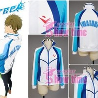 Free! Iwatobi Swim Club Haruka Nanase High School Uniform Female Size L
