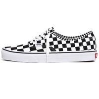 Authentic Mix Checker Sneakers Black / True White