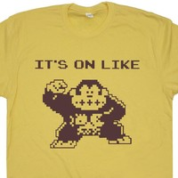 Donkey Kong T Shirt It's On Like Donkey Kong Shirt Vintage 80s Gaming Tee Shirt