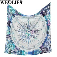 Polyester Indian Mandala Tapestry 148x148cm Wall Hanging Bohemian Bedspread Dorm Cover Throw Blanket Home Decor Accessories