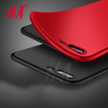 H&A Luxury Matte Soft Ultra-thin Back Full Case iPhone Plus TPU Protective Shell Cover