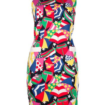 Escada Vintage umbrella print shift dress