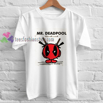Mr Deadpool t shirt gift tees unisex adult cool tee shirts buy cheap