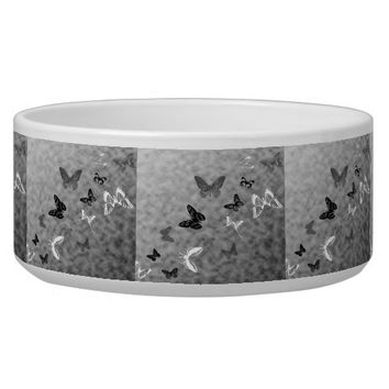 Black n White Butterflies Bowl