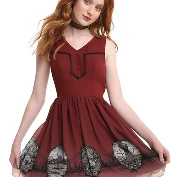 Licensed cool Over The Garden Wall Forest Border Dress Pockets Circle skirt Cartoon Network