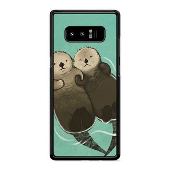 Significant Otters Otters Holding Hands Samsung Galaxy Note 8 Case