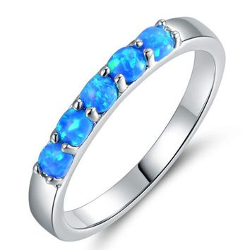ONETOW Rainbowcar agateOpal Opalescent ring refers to the opal Obo