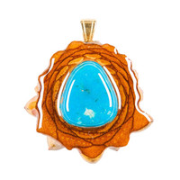 Turquoise (Small) Third Eye Pinecone Talisman Necklace