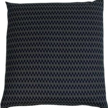 J-Life Ya Gasuri Navy Zabuton Floor Pillow
