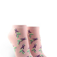 Bird Graphic Ankle Socks