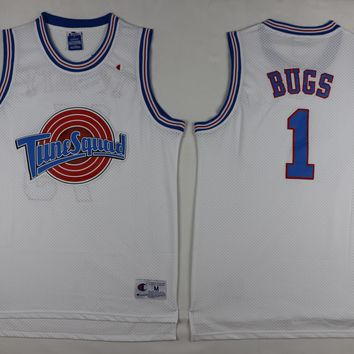 Champion Sticthed Space Jam BUGS BUNNY 1 Jersey Tune Squad Looney Toones Jersey