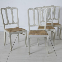 french painted chairs