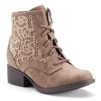 Candie's Girls' Crochet Ankle Boots
