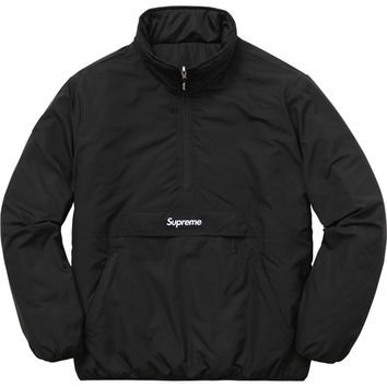 Supreme: Reversible Pullover Puffer - Black