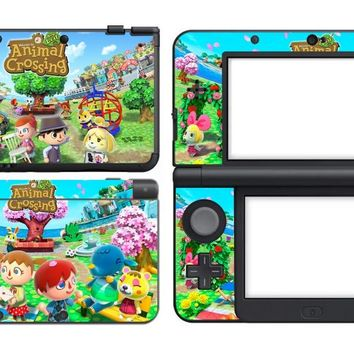 309 Animal Crossing Time Vinyl Skin Sticker Protector for Nintendo New 3DS skins Stickers