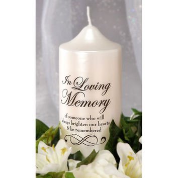 In Loving Memory Candle Decal, DIY Memorial Candle, Wedding Candle Decoration, Unity Candle, DIY Candle Decor