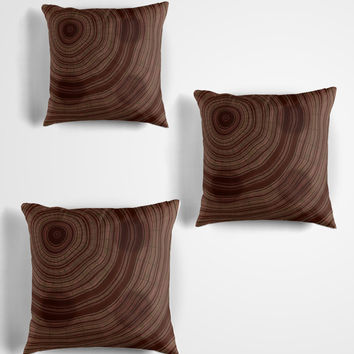 'Rings and spots' Throw Pillow by Christy Leigh