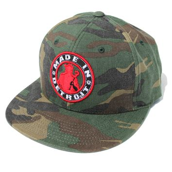 Made in Detroit Circle Logo Camo Flex Fit Hat
