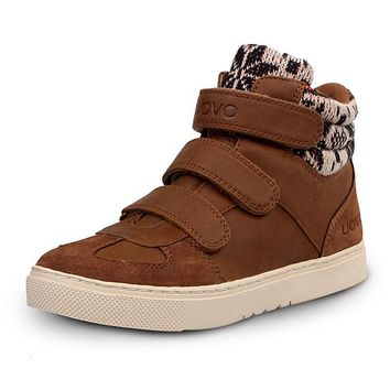UOVO 2016 new Kids Warm Winter Shoes Boys shoes Girls shoes Synthetic Leather Cane Media Kids shoe 5 colour 30-39