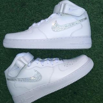 NIKE Air Force Ones w  Swarovski Crystals from sneakercandy on c0a2c748c9ec