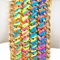 Neon Woven Chain Bracelet - My Jewel Candy