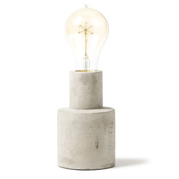 Cement Lamp - Tall Cylinder