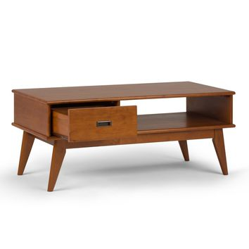 WyndenHall Tierney Brown Wood Handmade Mid-century Coffee Table | Overstock.com Shopping - The Best Deals on Coffee, Sofa & End Tables