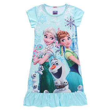 Elsa Snow Queen Let it Go Frozen Olaf Cute Girls Youth Kids dress cosplay costume
