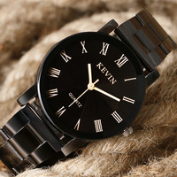 KEVIN Stainless Steel Analog Men's Quartz Watch Business Watch Men Watch W0908