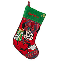 Minnie Mouse Holiday Stocking - Personalizable   Disney Store