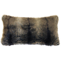 Grizzly Fur Kidney Toss Cushion