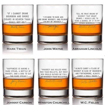 Whiskey Lovers Engraved Personalized Cocktail Glass Best Sellers