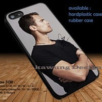 Theo James Black Shirt iPhone 6s 6 6s+ 5c 5s Cases Samsung Galaxy s5 s6 Edge+ NOTE 5 4 3 #movie #divergent DOP3106