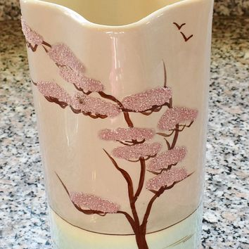 "Weil Ware Bonsai Tree Designer Vase California Pottery 8 1/4"" x 3 1/2"""