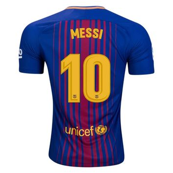 KUYOU Barcelona 2017/18 Home Men Soccer Jersey MESSI#10