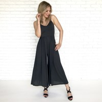 Effortless Jersey Jumpsuit in Black