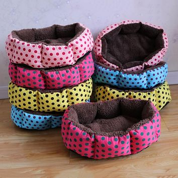 Hot sales! NEW! Colorful Leopard print Cat and Dog Bed SIZE S M L XL