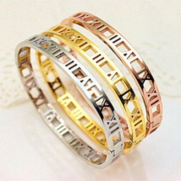 CREYET7 New H bangle H carter bracelet Brand Luxury Women/Lover 18K Gold/Silver/Rose plated Titanium Stainless Steel Scrub pulseiras05