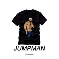 Drake Jumpman Shirt OVO Match Navy Jordan Sneaker Head Unisex Mens Women Black Crew neck Concert T Shirt