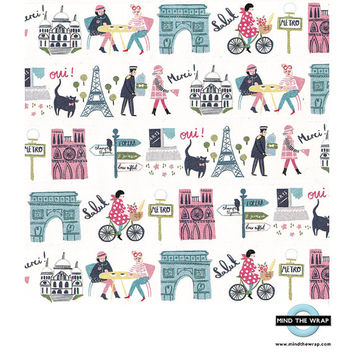 "Paris Washi Tape - ""Bonjour Champs Elysees"" - Wide 38mm - Parisian, French Landmarks Lifestyle, France"