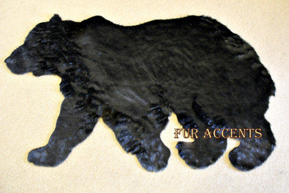 plush soft faux fur fabric black bear from shannaleigh25 on etsy. Black Bedroom Furniture Sets. Home Design Ideas